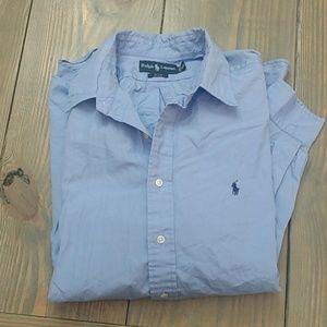 Ralph Lauren Blake Blue Button Down Shirt XXL